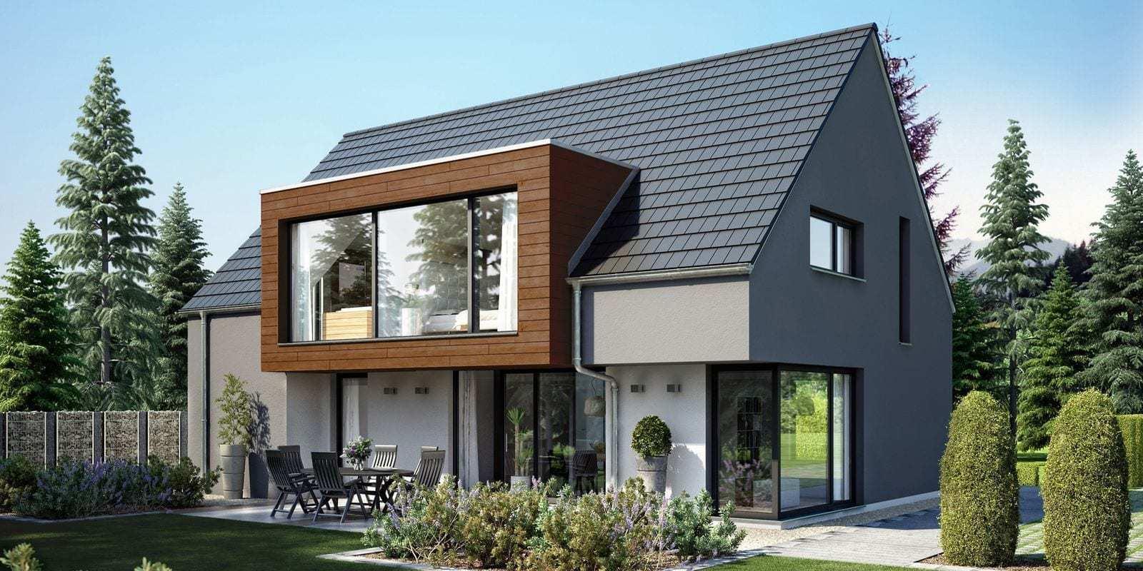 Einfamilienh user kbe for Einfamilienhaus modern mit satteldach