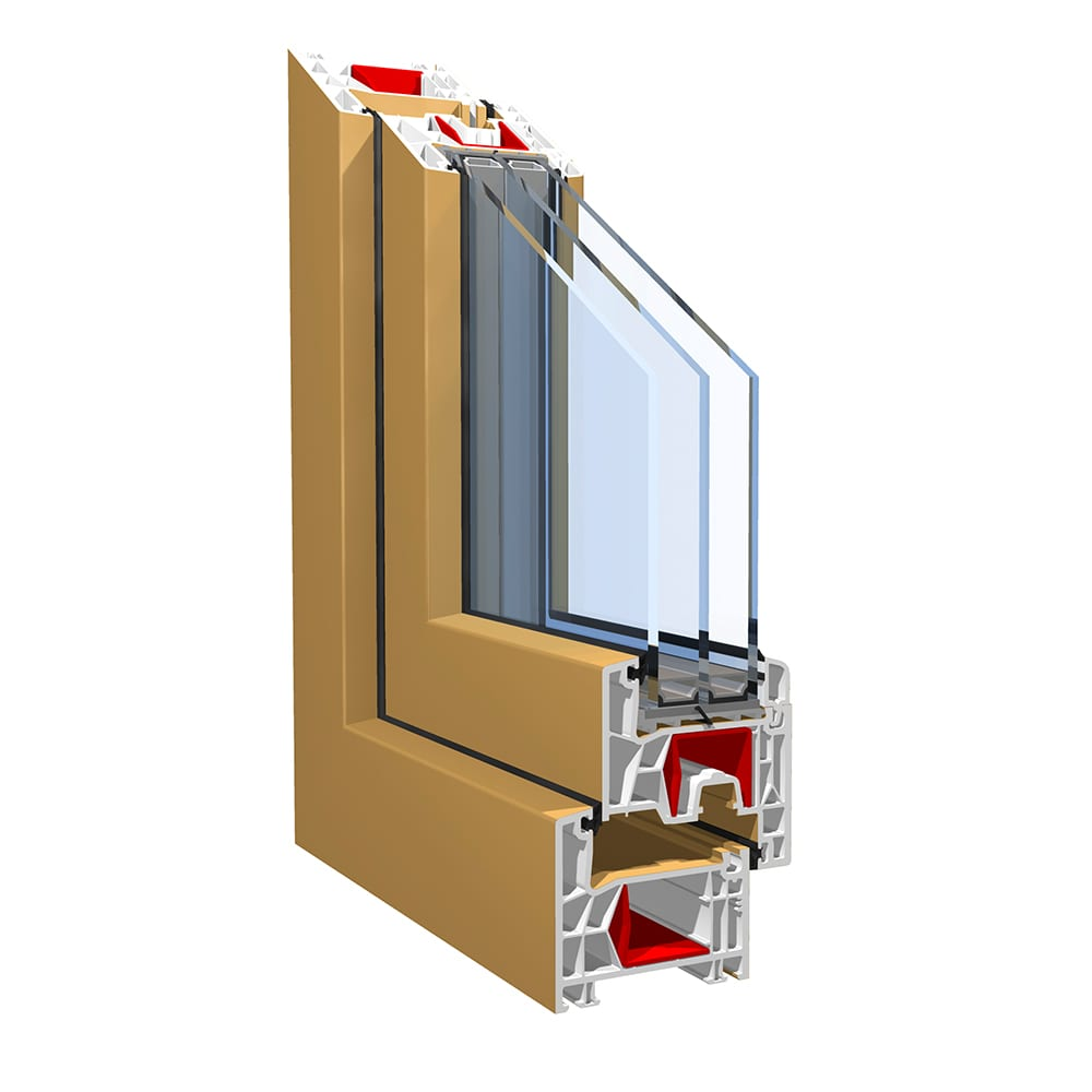 KBE 76 Standard Window And Residential Door Systems Double