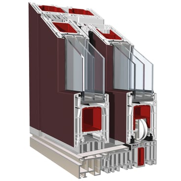 KBE PremiDoor 76 Wine red