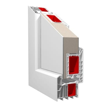 KBE System_88mm inward opening residential door with panelling