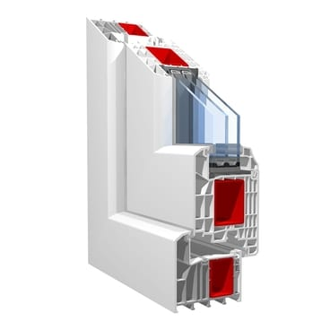 KBE System_88mm inward opening residential door with frame